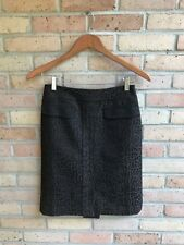 Ann Taylor Womens Wool Brown Black Animal Print Pencil Skirt - sz 0P FAST SHIP