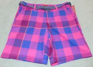 ~NWT Women's MERONA Plaid Polka Doted Belt Shorts! Size 6 Nice FS:)~