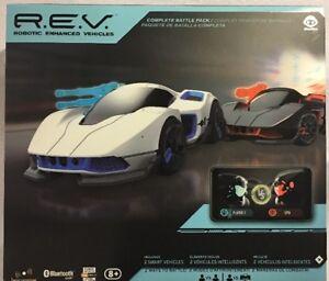 R.E.V. Robotic Enhanced Vehicles Complete Battle Pack Includes 2 Smart Cars New