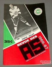1966-67 AHL Quebec Aces Program Simon Nolet Cover