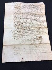ANTIQUE MANUSCRIPT 1662
