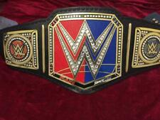 WWE Raw vs Smackdown Championship Belt / Real Leather / Adult Size ( Replica )