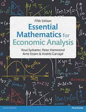 Essential Mathematics for Economic Analysis, Carvajal, Andrés,Strom, Prof Arne,H