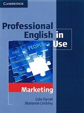 Cambridge PROFESSIONAL ENGLISH IN USE - MARKETING with Answer Key I Farrall @NEW