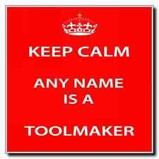 Toolmaker Personalised Keep Calm Coaster