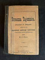Vintage 1879 Straszna Tajemnica - Printed in Poland