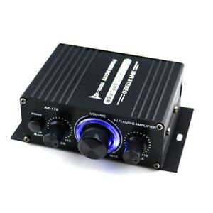 AK170 12V Mini HiFi 400W 2CH Digital Power Amplifier Car Home Stereo Audio Amp