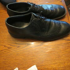 Mens Black Oxford Dress Formal Casual Leather Shoes Size 12 D