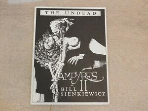 THE UNDEAD VAMPYRES II #/1500 Portfolio *BILL SIENKIEWICZ Signed plate