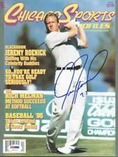 Blackhawks Jeremy Roenick Authentic Signed Magazine Chicago Sports Psa #U51476