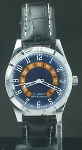 """Refurbished Blue Dial FHF ST-96 """"Hand Winding"""" Men's Excellent Watch Swiss Mvmt"""
