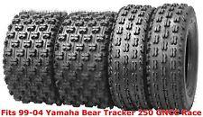 Set 4 WANDA ATV tires 22x7-10 & 22x11-10 99-04 Yamaha Bear Tracker 250 GNCC Race
