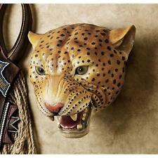 Leopard Wall Trophy Statue Sculpture Dad Cabin Lodge African Savannah Predator