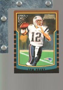 2000 Bowman #236 Tom Brady 2002 Topps Gallery Heritage ROOKIE RC Reprint NM+ SP