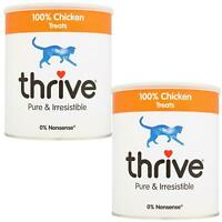 2 x thrive Cat 100% Chicken Treats MaxiTube 200g, Real Natural Freeze Dried Meat