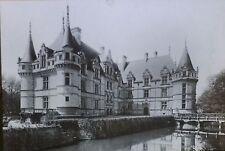 Château d'Azay-le-Rideau, France, Exterior, Magic Lantern Glass Photo Slide