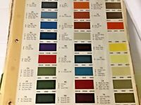 1975 TRUCKS Chevy Ford Dodge JEEP International MACK Color Chips Sheet Dupont 75