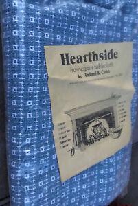"Hearthside homespun tablecloth, Fallani and Cohn, 60""x90"" oval, NIBag Blue"