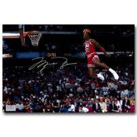 "Michael Jordan Flying Dunk Art HD Print Poster Photo Decor 24x34/"""