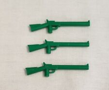 Lego Lot Of 3 Green Army Western Minifig Rifles Long Gun Shotgun Cowboy Weapons