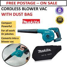 Makita Blower Vac Cordless Work Jobsite Industrial Leaf Metal Dust 18v Dust Bag