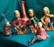 Lot 5 Asian Tilso Pixie Elf Nymph Music Band Statue & Vase Mid-Century Modern Hk