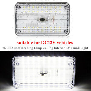 36LED Car Vehicle Interior Dome Light Indoor Roof Ceiling Reading Lamp DC 12V