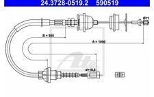 ATE Cable de accionamiento, accionamiento del embrague CITROEN 24.3728-0519.2