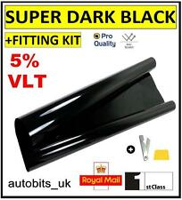 PRO ANTI-SCRATCH CAR WINDOW TINT FILM TINTING SUPER DARK BLACK LIMO 5% 76cm x3M