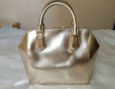 Charles Keith Structured Tze Crossbody Bag Handbag In Gold Color