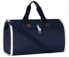 POLO Ralph Lauren Duffle Garment Bag Canvas Sports Gym Travel Carry-On NAVY