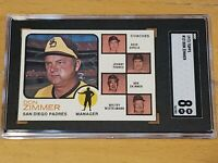 1973 Topps #12 Don Zimmer SGC 8 Newly Graded & Labelled