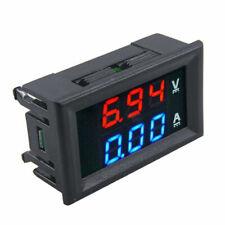 Dual Display LED DC 0-100V 10A Digital Voltmeter Ammeter Panel Amp Volt Gauge UK