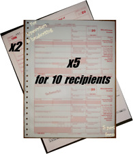 2020 Irs Tax Form 1099-Misc Carbonless for 10 recipients + (2) 1096 -> No Env