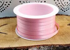 (0,18€/m) 10m Satinband  6mm rosa Taufe Hochzeit basteln Kommunion Tischdeko