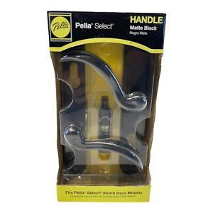 Pella Select Matte Black Storm Door Matching Handleset 9136305