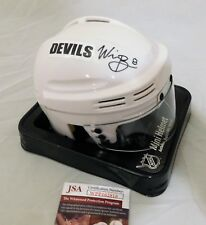 Will Butcher NJ Devils Signed / Autographed White Mini Hockey Helmet JSA COA