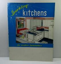"""1950s Retro """"Sparkling""""  Kitchen & laundry color brochure Pink of Perfection"""