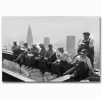 Rockefeller Ironworkers Construction Art POSTER Wall Decoration X-475
