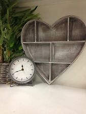 Shabby Chic Vintage Style Wooden Heart Wall Display Cabinet Shelf Unit