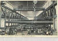 Postcard Watervliet NY Arsenal Interior 1920 Gun Photo Vintage