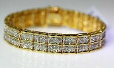 "2TCW Diamond Wide Line or Tennis Bracelet Gold over Brass 7.25"" – 9645"