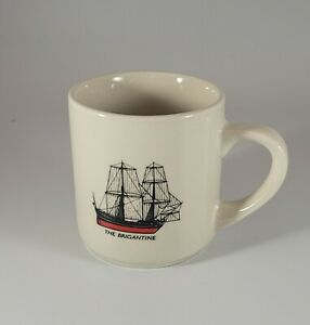 The Brigantine Pirate Sailing Ship Mug Boat Sailor Seaman Coffee Tea EUC