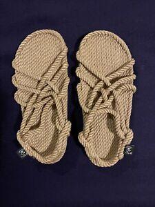 New Nomadic State Of Mind Strap Rope Sandals Unisex Size Women-9-9.5 Men-7-7.5