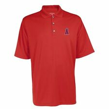 LOS ANGELES ANGELS ANTIGUA RED DESERT DRY PIQUE POLO RED SMALL NWT $40