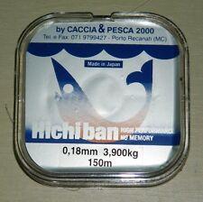 monofilo hiciban mm0.18 m 150 x mulinello  pesca mf bc6