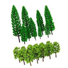 30x miniature en plastique arbre modèles 4.8-16cm 1 / 50-1 / 150 HO Roadway