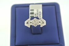 SOLID 14K WHITE GOLD 0.50 CT ROUND CUT DIAMONDS FLOWER DESIGN CLUSTER RING