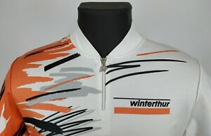Vintage ASSOS Mens Winterthur Short Sleeve 1/4 Zip Cycling Jersey Size M