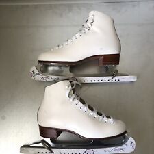 New listing Vintage Riedell Red Wing White Ice Skates Professional Women 7.5 Us Flo B7 - 1R